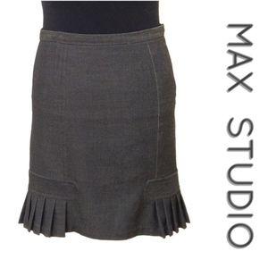 Max Studio Pleated Pencil Skirt, Size 2